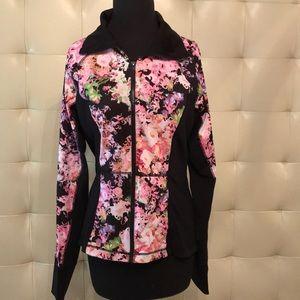 Floral workout jacket